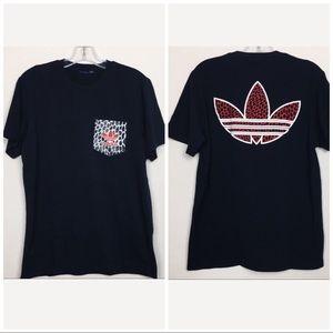 Adidas Trefoil Black Short Sleeve Shirt w/ Pocket